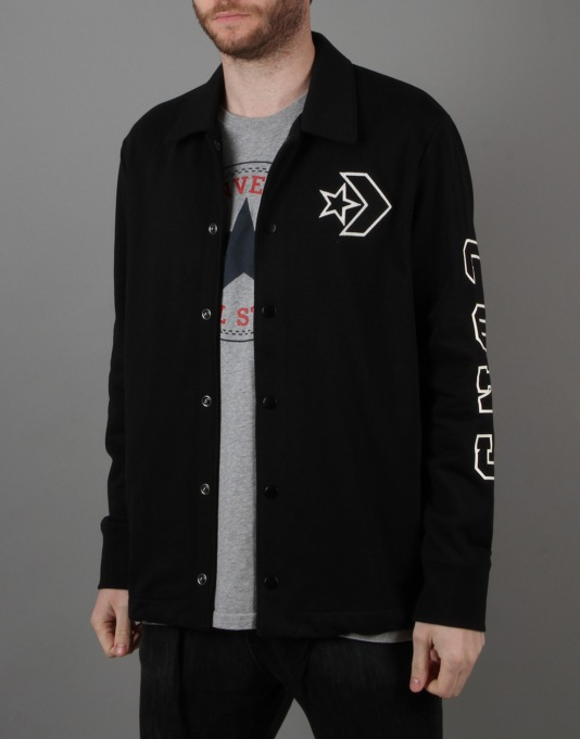 Converse Collegiate Coach Jacket - Converse Black