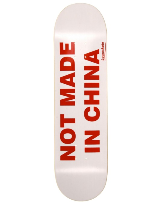 Lovenskate Not Made in China Team Deck - 8.25""
