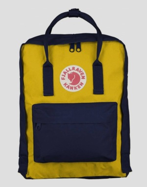 Fjällräven Kånken Backpack - Navy/Warm Yellow