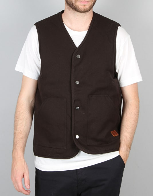 Brixton Anchor Vest - Washed Black Blue  51a2bf891b4