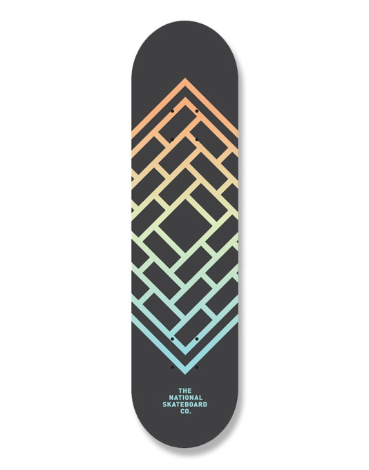 The National Skateboard Co. Fade Team Deck - 8.25""