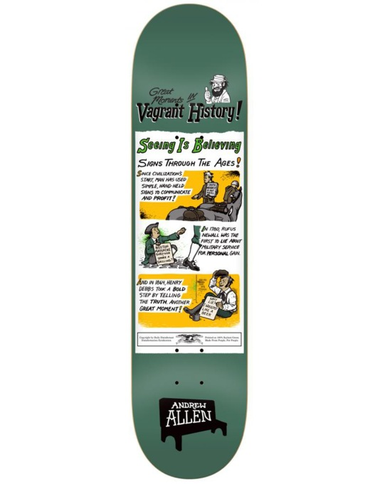 Anti Hero Allen Vagrant History Pro Deck - 8.43""