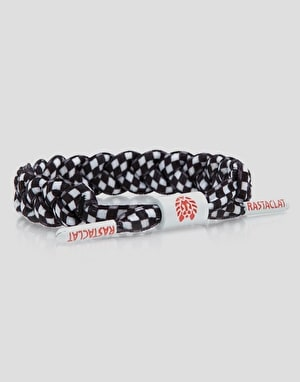 Rastaclat Chex Mix Wristband - Black/White/Checker