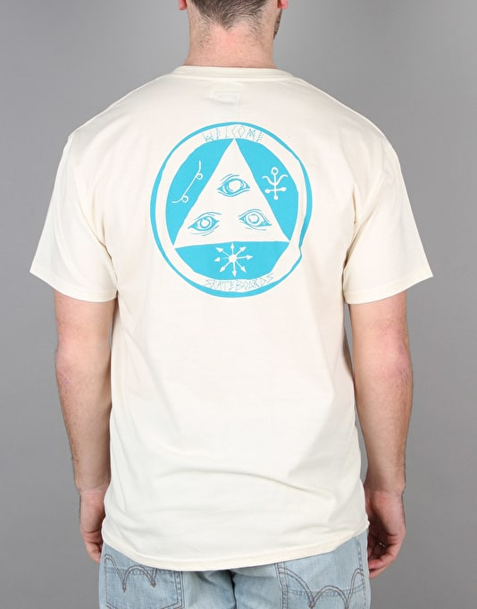 Welcome Talisman T-Shirt - Natural/Teal