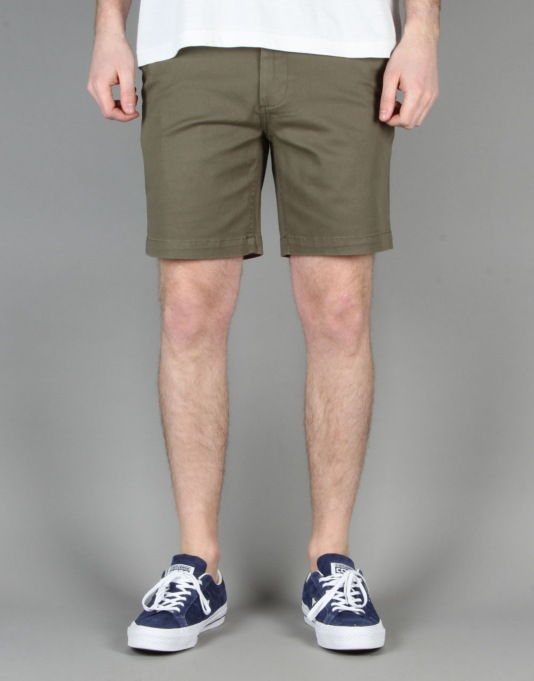 DC Worker Slim Shorts - Vintage Green