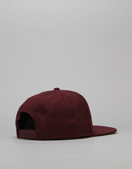 Route One Arch Logo Snapback Cap - Burgundy