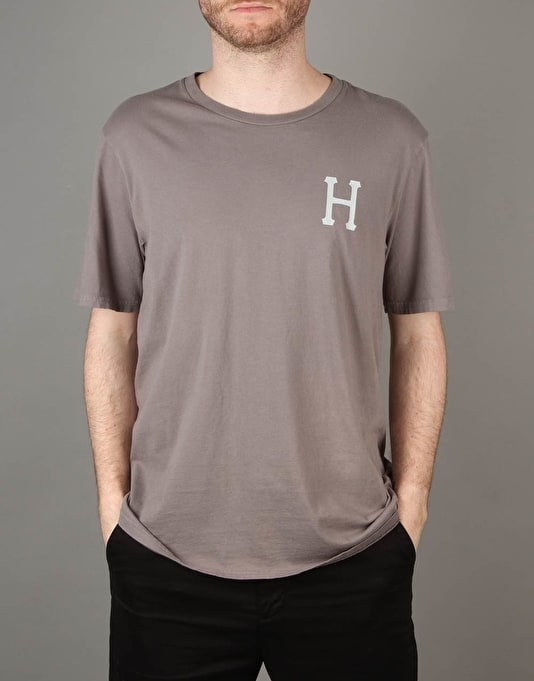 HUF Classic H Pigment Dyed T-Shirt - Charcoal