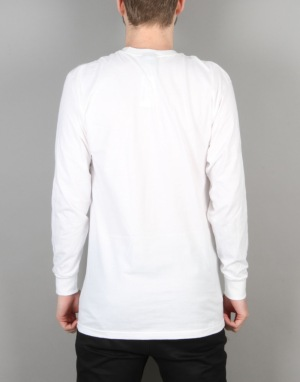 Stüssy S Warrior L/S T-Shirt - White