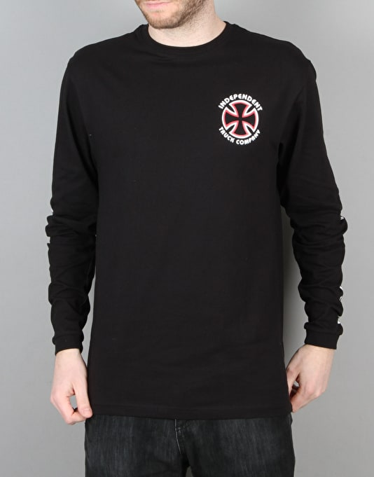 Independent Classic Bauhaus Cross L/S T-Shirt - Black