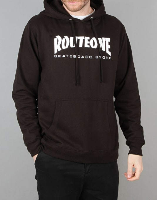 Route One Skate Store Pullover Hoodie - Black