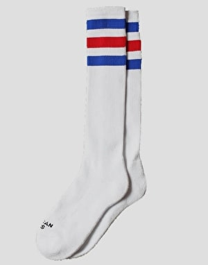 American Socks American Pride Knee High Socks - White/Blue/Red