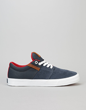Supra Stacks Vulc II Skate Shoes - Navy/Suede