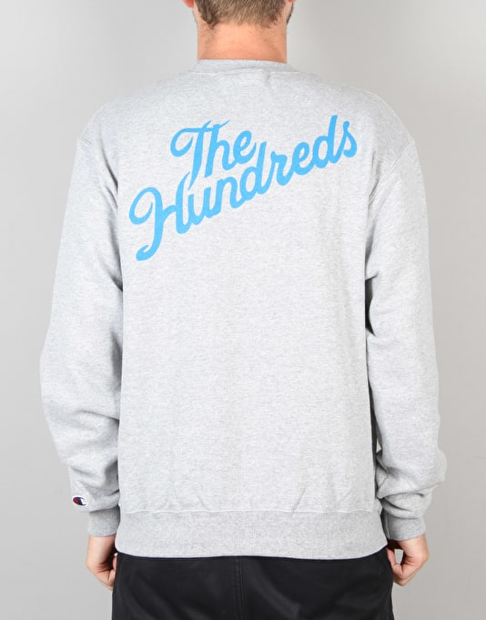 The Hundreds x Champion Slant Crew Neck - Athletic Heather