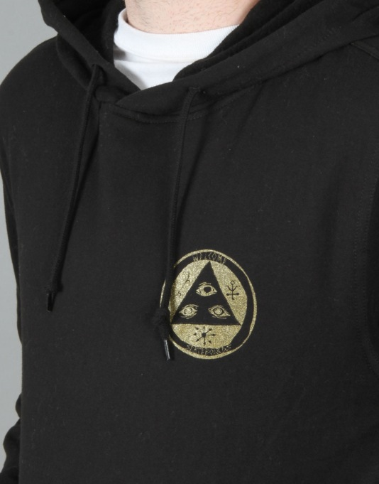 Welcome Golden Goat Lightweight Pullover Hoodie - Black/Gold