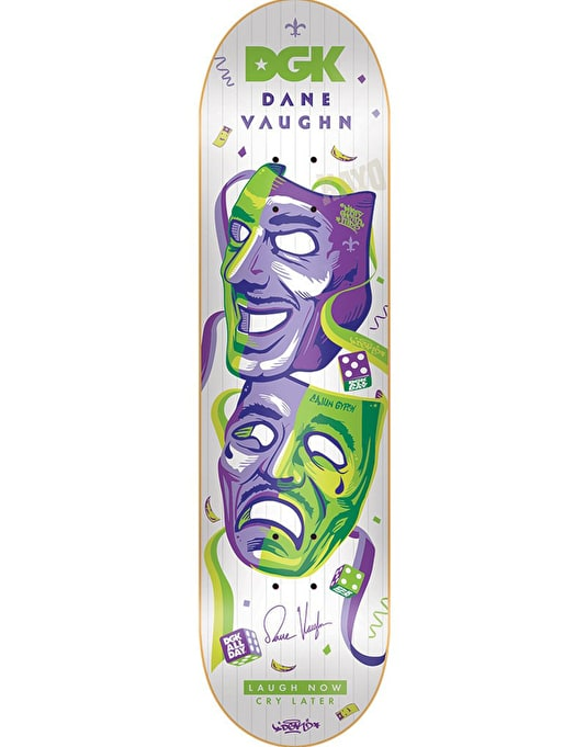 DGK Vaughn Laugh Now Cry Later Pro Deck - 7.8""