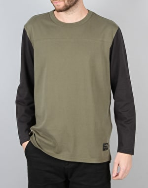 Levi's Skateboarding L/S Football T-Shirt - Ivy Green
