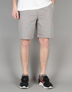 Vans Dewitt Monogram Shorts - Frost Grey Flocking Dead