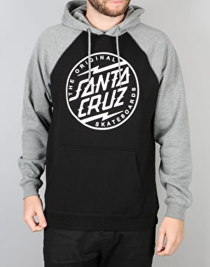 Santa Cruz Bolt Dot Pullover Hoodie - Dark Heather/Shaddow