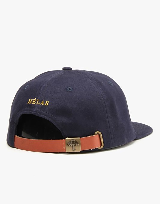Hélas Classic Logo 6 Panel Cap - Navy Cotton Twill