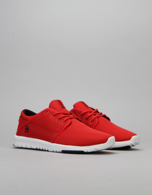 Etnies Scout Shoes - Red/White/Black