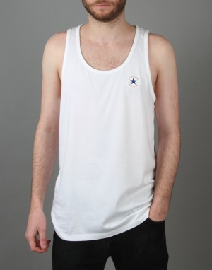 Converse Core Left Chest CP Tank - Converse White