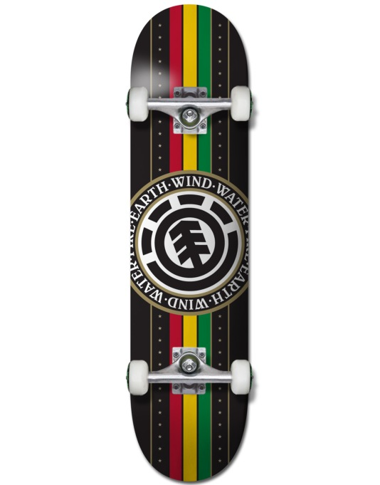 Element Rasta Seal Complete Skateboard - 8""