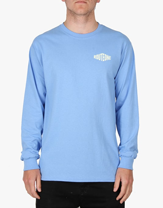 Route One Hardgoods LS T-Shirt - Carolina Blue