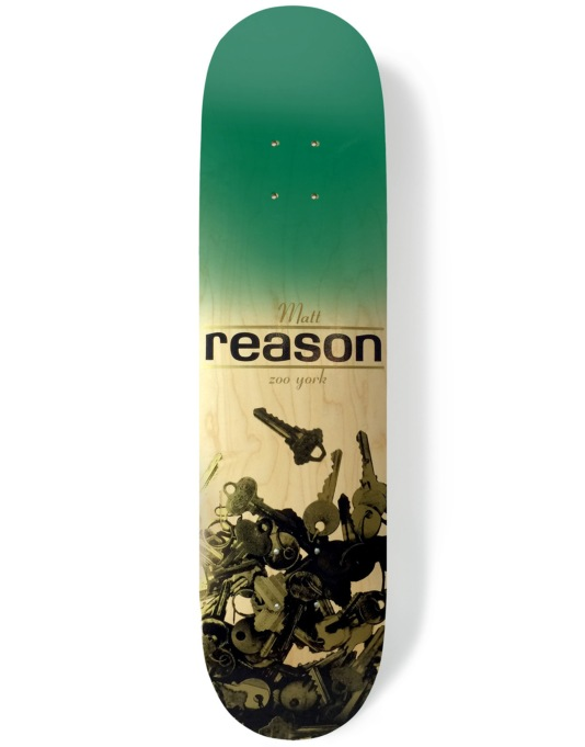 Zoo York Reason Keys Reissue Skateboard Deck - 8""