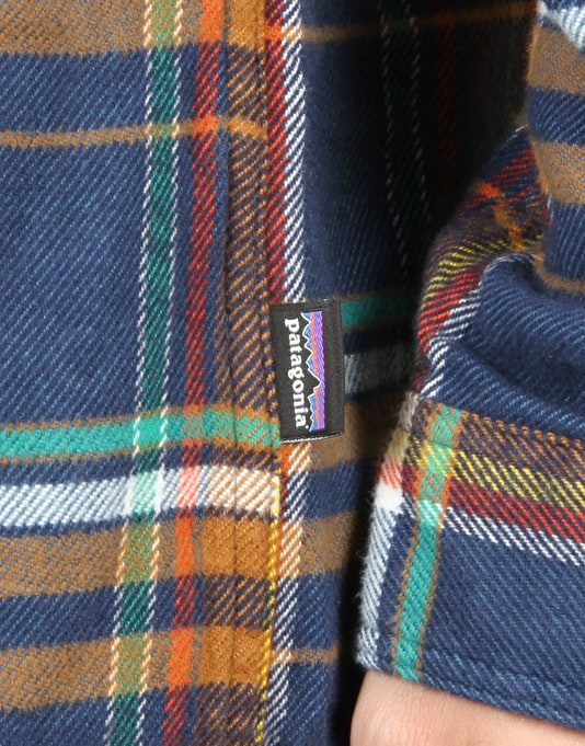 Patagonia LS Fjord Flannel - Blue Ox:Navy Blue