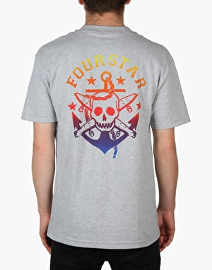 Fourstar Pirate Anchor T-Shirt - Athletic Heather