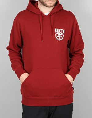Brixton Alliance Hood Fleece - Burgundy