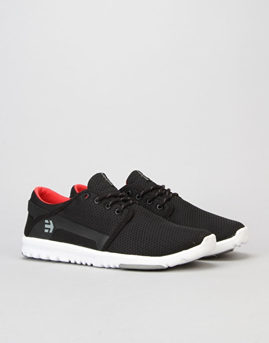 Etnies Scout Shoes - Black/Grey/Red