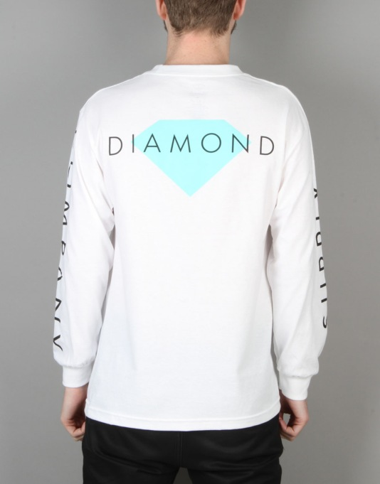 Diamond Supply Co. Solid L/S T-Shirt - White