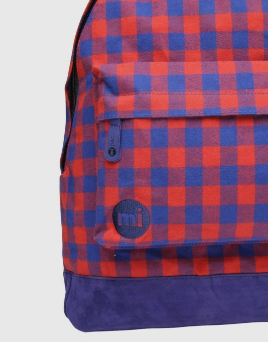 Mi-Pac Gingham Backpack - Red/Blue