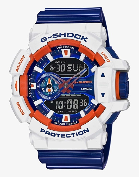 G-Shock GA-400CS-7A Watch - Crazy Sports White