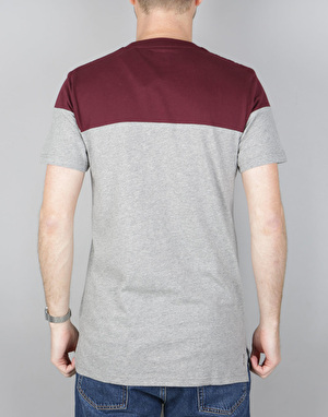 Adidas Blackbird T-Shirt - Core Heather/Maroon