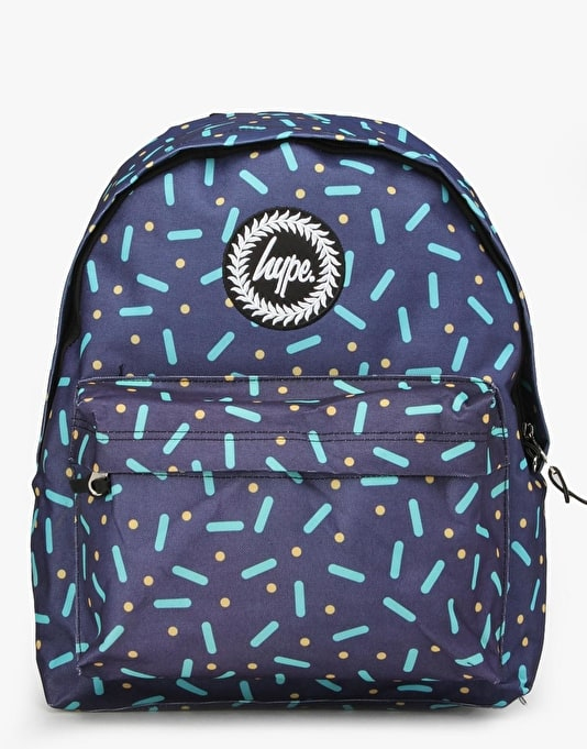 Hype Retro Neon Backpack - Black