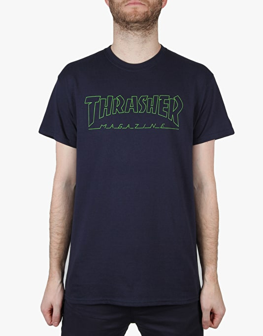 Thrasher Circuit Goat T-Shirt - Navy/Electric Green
