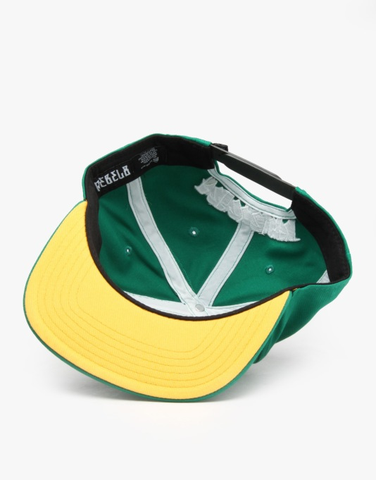 Rebel8 Logo Snapback Cap - Green