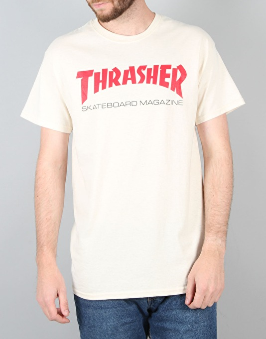 Thrasher Resurrection Logo T-Shirt - Natural