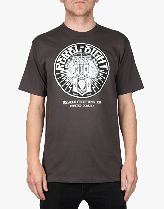 Rebel8 Sewer King T-Shirt - Charcoal