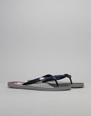 DC Spray Graffik Flip Flops - Navy/Red