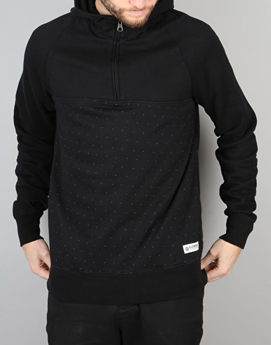 Element Hansley Pullover/Half Zip Hoodie - Flint Black