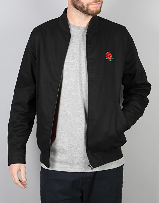 RIPNDIP We Bad Rose Zip Varsity Jacket - Black