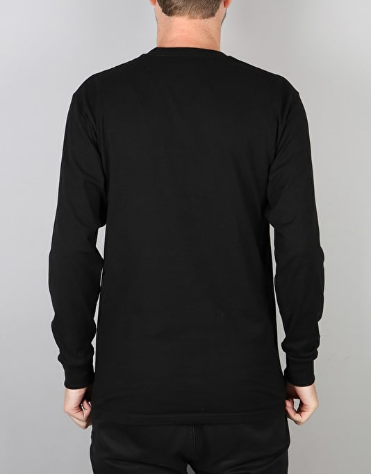 Stüssy Stock Link L/S T-Shirt - Black