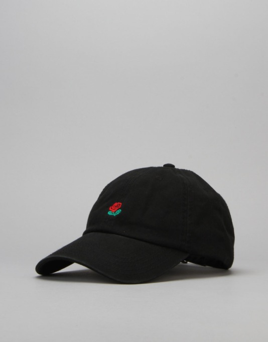 The Hundreds Rose Strapback Cap - Black