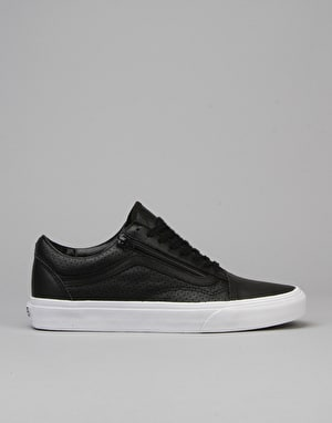 Vans Old Skool Zip Skate Shoes - (Perf Leather) Black