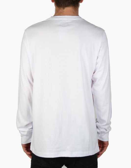 Acapulco Gold Hardcore L/S T-Shirt - White