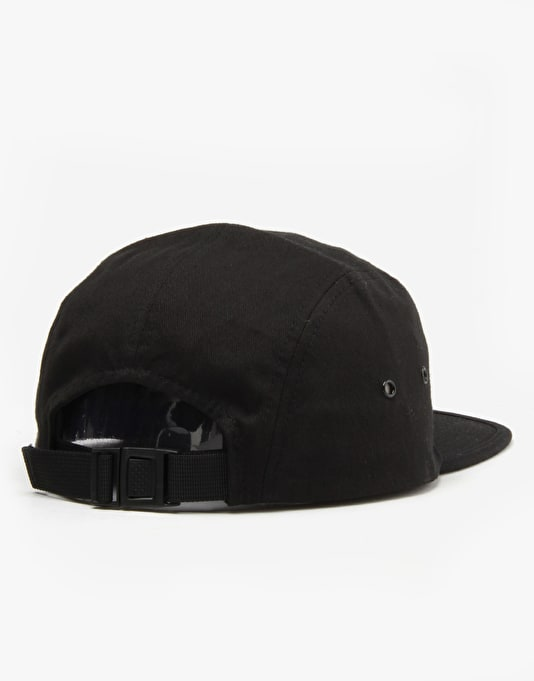 Welcome Scrawl Camp 5 Panel Cap - Black/White