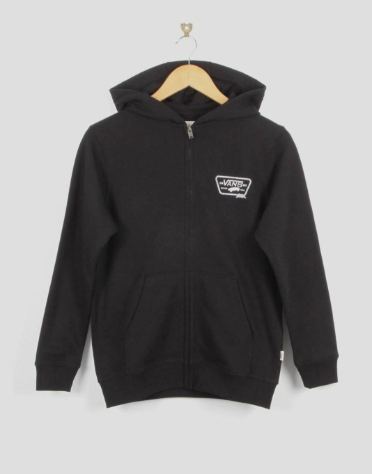 Vans Full Patch Boys Zip Hoodie - Black